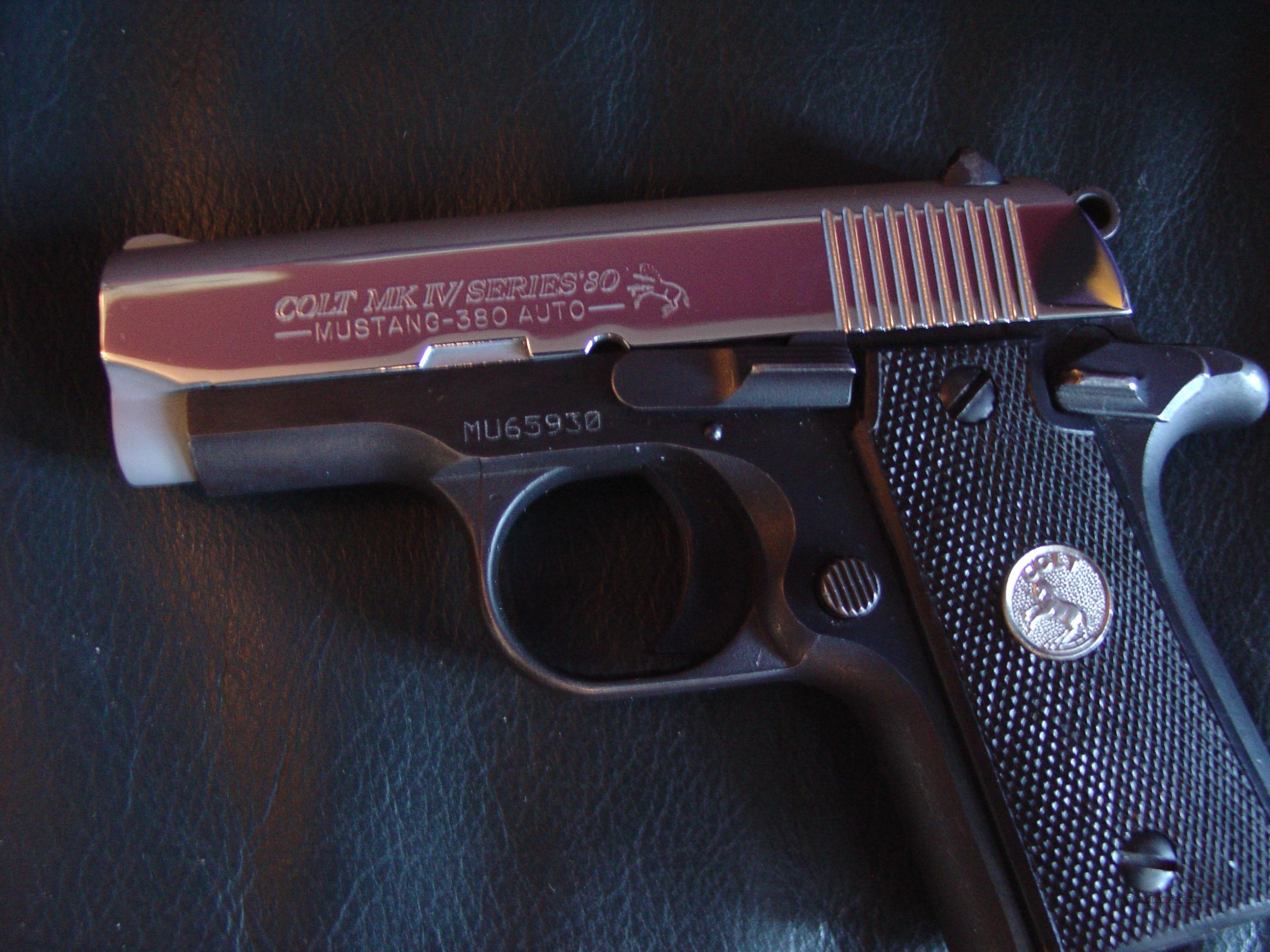 Colt Mk IV Series 80,Mustang,high gloss polished stainless slide,steel blued