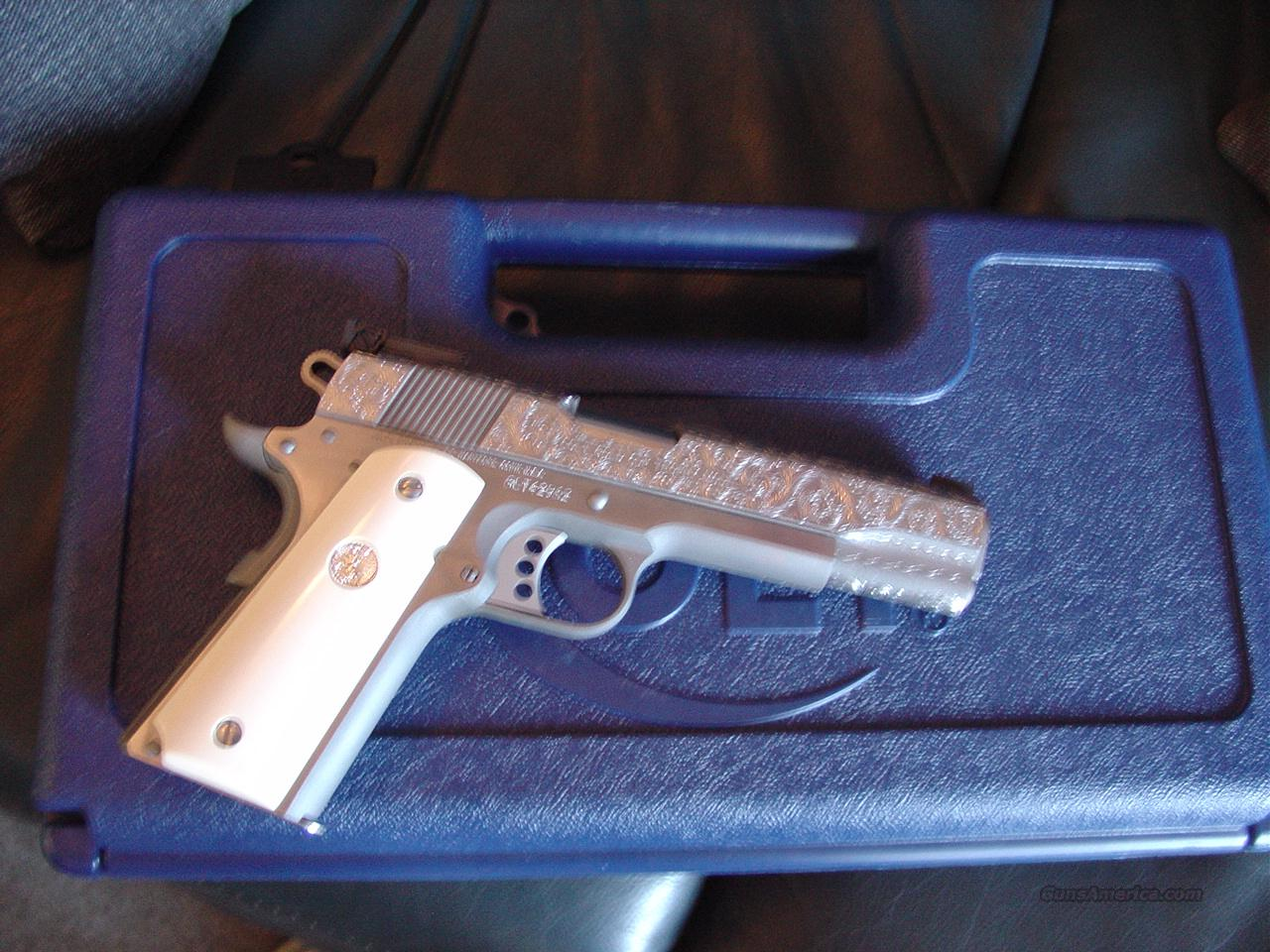 """Colt 1911,Gold Cup Trophy,45acp,5"""",fully scroll master engraved"""
