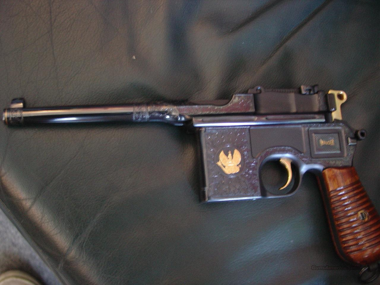 mauser broomhandle c96 9mm 31 of 100 field mar for sale