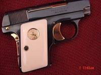Colt 1908 Vest Pocket Hammerless,25 caliber,fully refinished in bright blue with 24K accents,made in 1922,& redone in Nov 2016-awesome showpiece !!