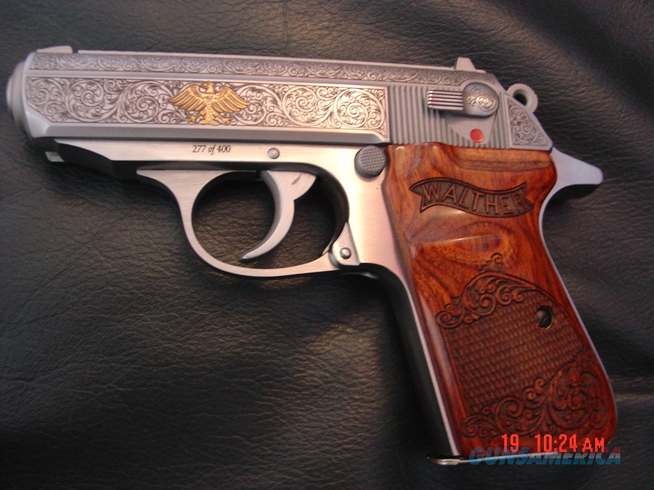 Walther PPK/S- Talo 1 of 400, engraved,with gold Federal German