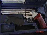 "Colt King Cobra 6"" fully engraved & polished by Flannery Engraving,custom rosewood grips & originals,357 mag,box & manual,1 of a kind work of art"