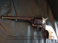 "Colt SAA 2nd Generation,1961,master engraved by Clint Finley,blued with 24K gold inlays,7 1/2"",44 special, real Ivory grips,-nicer than in my photos-one of a kind work of art"