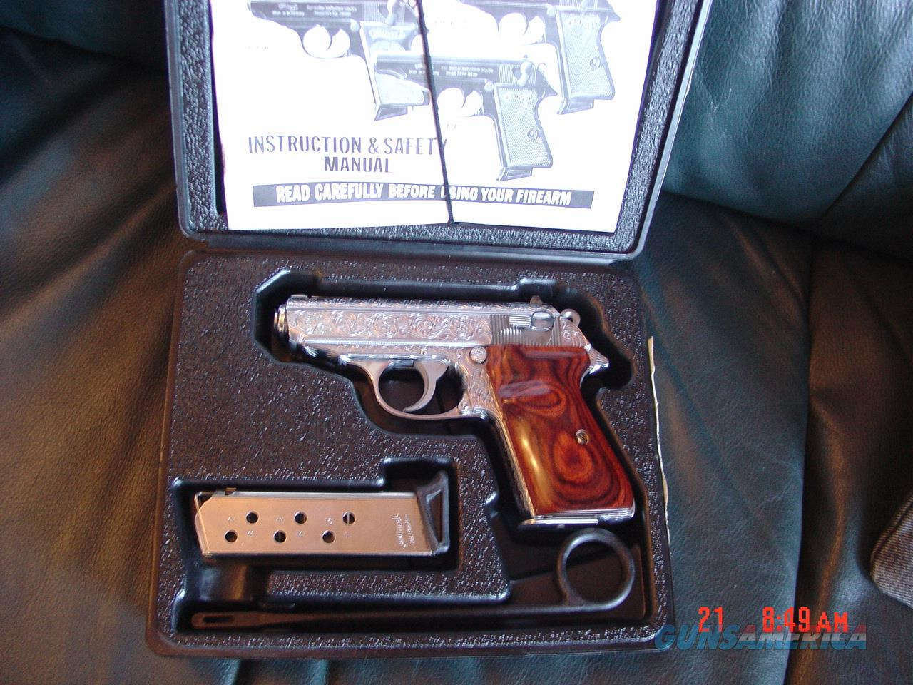 walther ppk s 380 fully engraved polished by for sale rh gunsamerica com