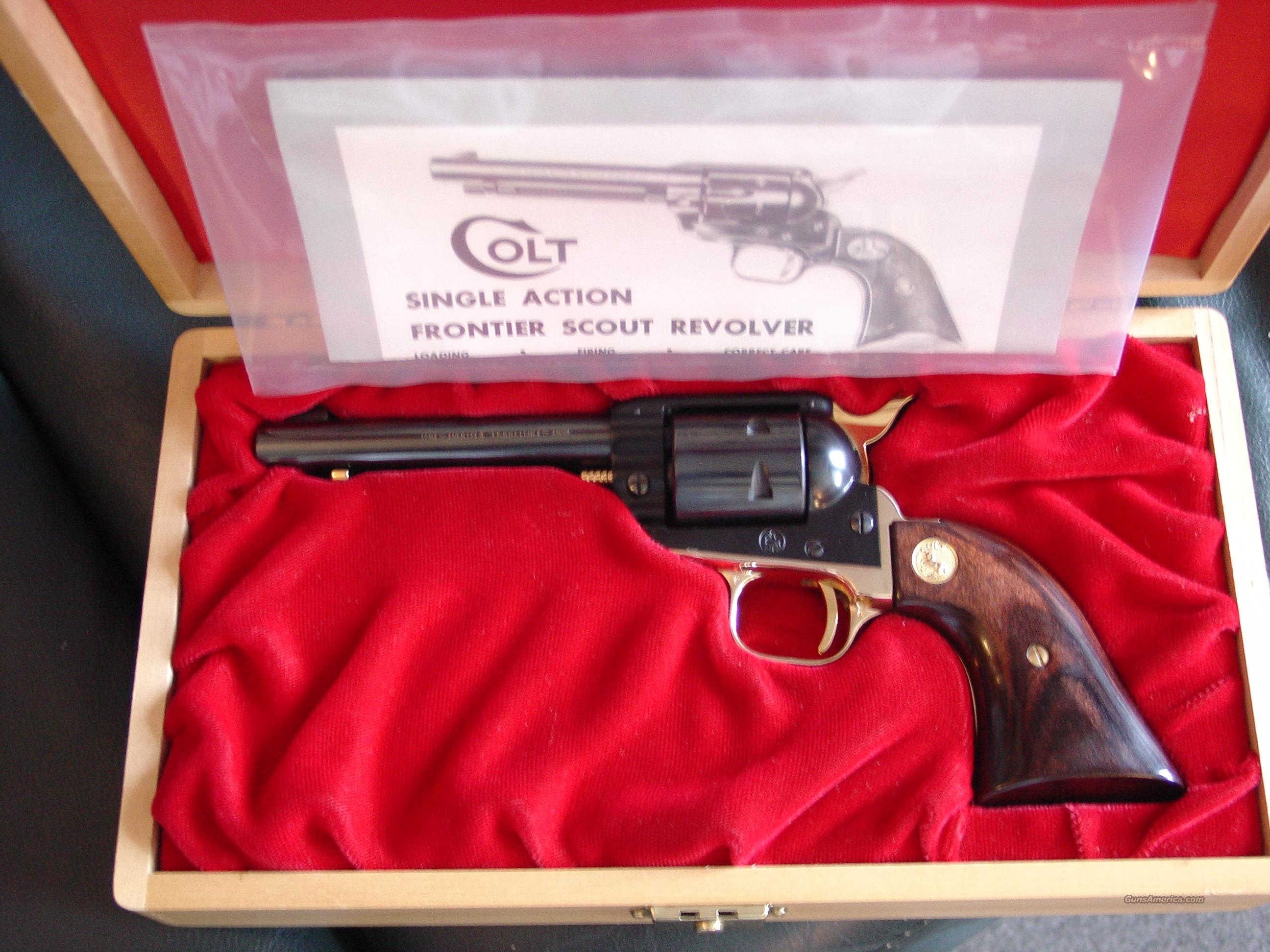 colt frontier scout 22lr dakota territory comme for sale rh gunsamerica com colt single action frontier scout 22lr manual Colt Frontier Scout Serial Numbers