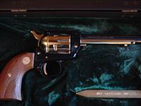 Colt Frontier Scout 22LR,Utah Golden Spike Centennial, 1969, gold plated & blued,with a plated spike & fitted cool case,Fir wood grips,unfired & 46 years old !!