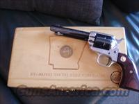 "Colt Frontier Scout Arkansas Terrirory Sesqicentennial commemorative,22LR,4 3/4"".1969,45 years old,Aluminum frame,in fitted wood pres.case-nice"