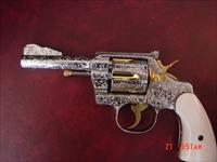 "Colt Army Special,38,4"",KING sites & hammer,engraved 100% by the late R. Valade,real Ivory grips,refinished nickel & gold, 1913,a true work of art !!"