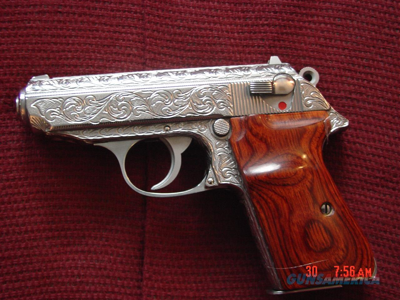Walther PPK/S 380-Interarms,fully engraved by Flannery Engraving,polished &