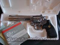 "Colt King Cobra 357 magnum,6"" high polished satin stainless,with serial numbered box,manual etc,1986 on manual-very nice package with Colt medallion grips"
