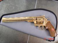 Dan Wesson 24K plated,factory engraved,9 3/4
