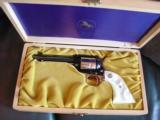 Colt New Frontier Indiana Commemorative,22LR,unfired in fitted wood pres case-1966