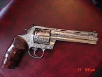 "Colt Anaconda fully engraved by Flannery Engraving,rosewood grips,Leopold scope & mount,44 mag,6"",certificate,awesome 1 of a kind work of art"