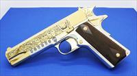 Colt 1911,45acp,deep engraved by Seattle Engraving, Mexican Heritage design ,bright nickel & 24k gold,1 of a kind masterpiece !!