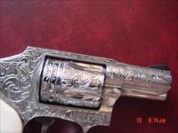 "Smith & Wesson 640-3,357 mag,2.125"",fully deep hand engraved & polished by Flannery Engraving,Bonded Ivory grips,certificate,box,manual & never fired !a true masterpiece !!"