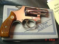 "Smith & Wesson Chiefs Special Airweight, model 37 no dash,bright mirror nickel,made in 1977-78,2"" barrel,38 special,original serial #'d box & all papers,& cleaning rod-super nice"