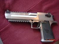 "Magnum Research Desert Eagle 50AE,6"" with built in comp,the hardest one to find ! all solid stainless upper & lower,2 rails,new in box with all papers-awesome hand cannon"