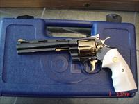 """Colt Python 1974,357 magnum,6"""",fully refinished in pres grade blue with 24k Gold accents,bonded ivory grip, way nicer in person !!"""