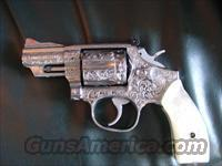 "Smith & Wesson 66-4,Jeff Flannery master engraved-100%+ coverage,stainless, 2 1/2"",357 Magnum,Pearlite grips,1994, a true one of a kind work of art"