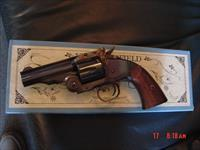 "Navy Arms/Uberti Schofield 1875 Hideout, 3 1/2"" 45 LC, break open, 6 shots, original box,looks maybe test fired only.super nice revolver, nice wood grips"