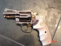 """Colt Diamondback rare 2 1/2"""" 1969,just refinished in bright nickel with 24k gold accents"""