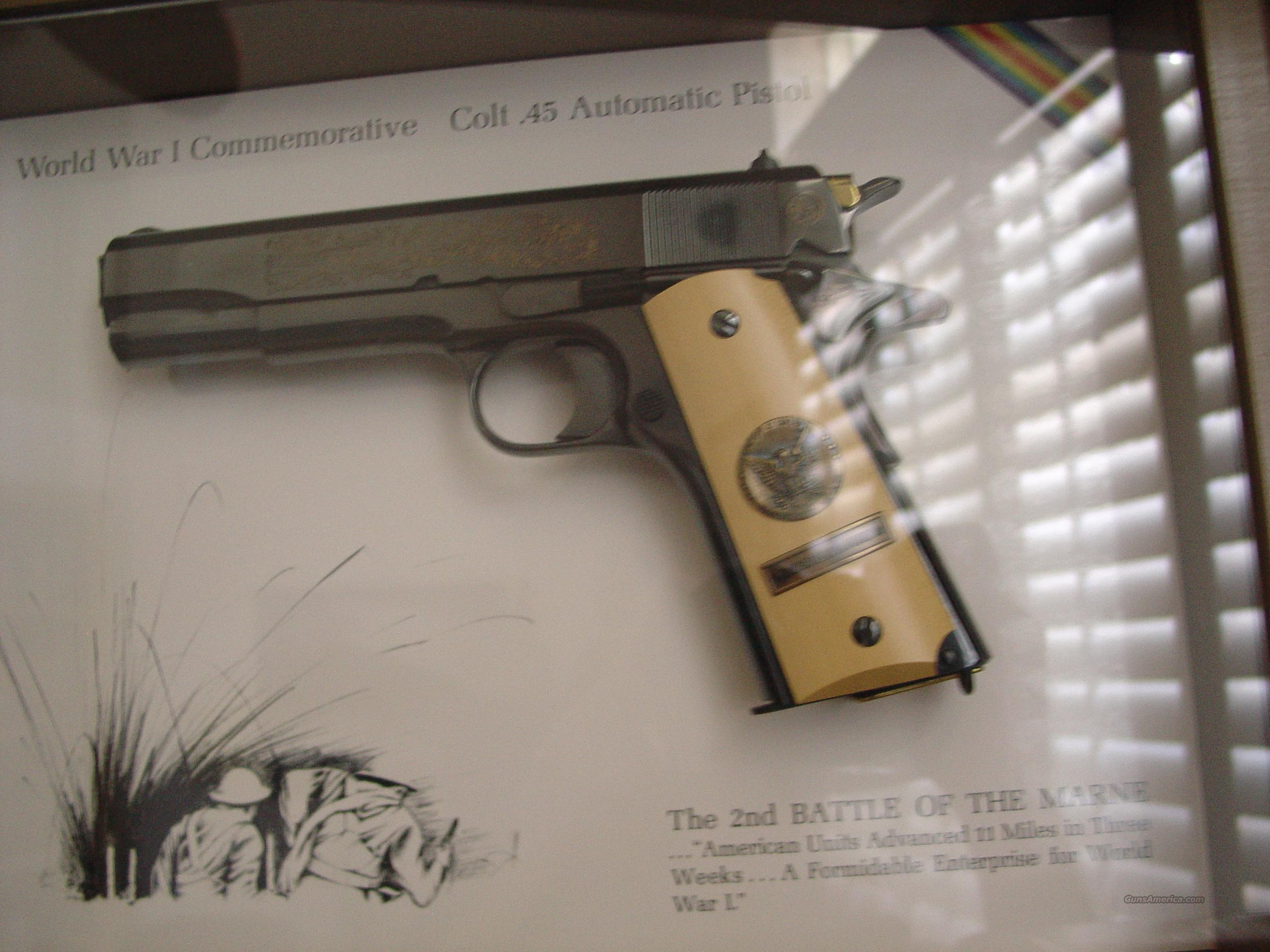 Colt 1911,engraved 4 gun set,price is per gun-your choice,World War 1  Series,all engraved,with custom grips,shadow boxes,& all the same serial  numbers