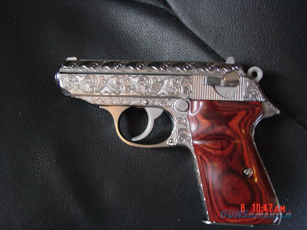 Walther PPK/S- Interarms,380,fully hand engraved & polished by Flannery