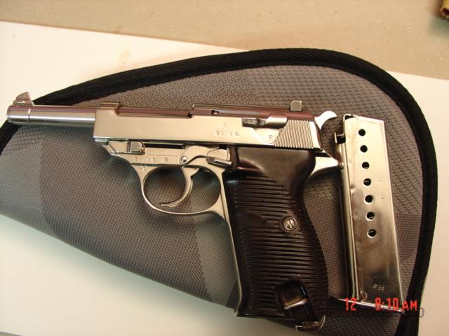 Walther P-38,1940,9mm,nickel plated,359 proof marks,#s matching