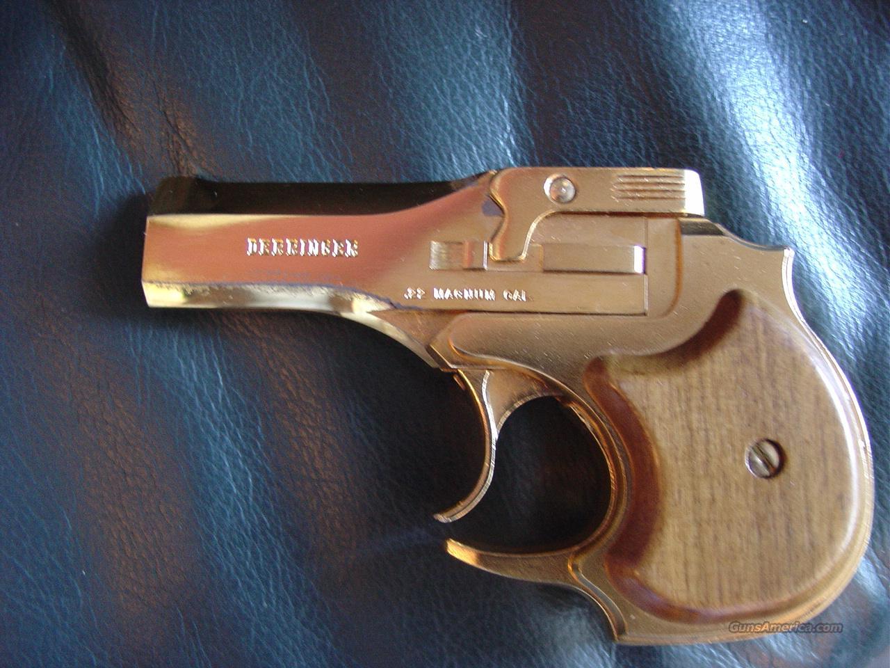 High Standard Gold Presentation Derringer 22 Ma For Sale