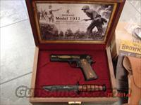 Browning 1911/22 100 year Anniversary package,with Ka Bar knife,pres.case,holster,gold engraved 22LR,all boxes & papers,lightweight