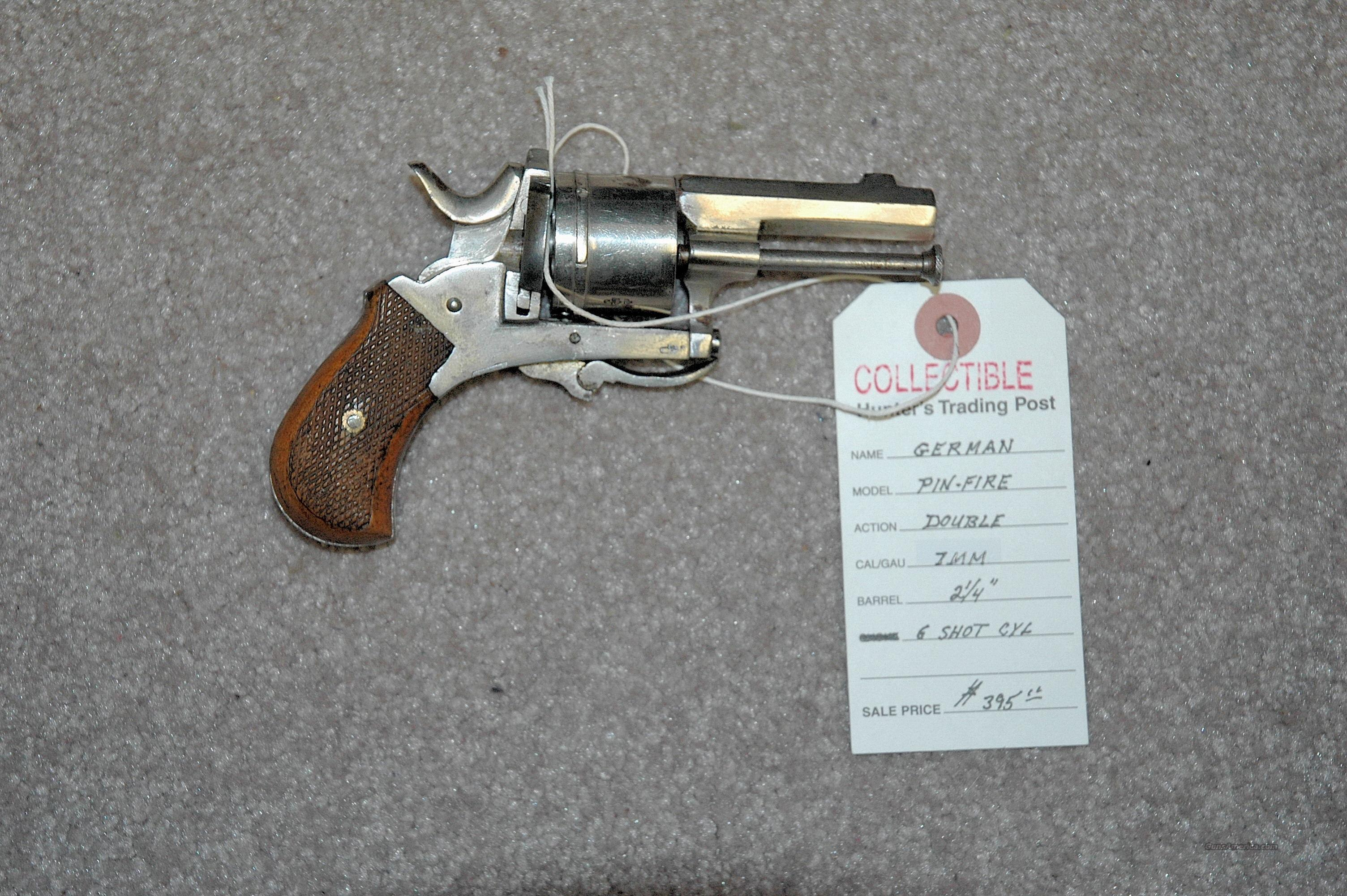 German Pin Fire Revolver 7MM
