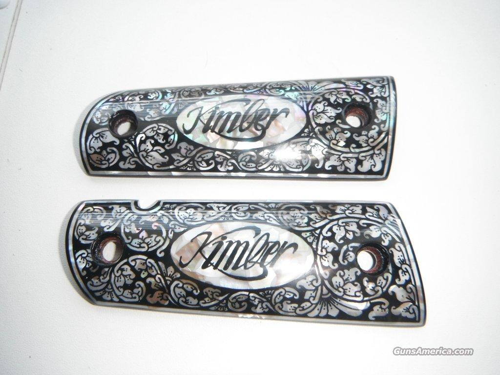Kimber 1911 Custom Mother Of Pearl Inlaid Grips For Sale