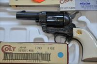 "COLT SAA Third Gen 3"" Sheriff's Model Royal Blue/CC 44-40 with aux 44SPL cyl 3 line patent date"