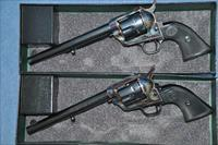 "USFA MFG Consecutive pair 44-40 ""Frontier Six Shooter"" revolvers"