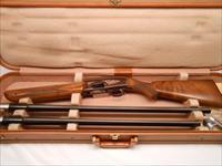 Very Clean  Browning Twelvette with 2 Barrels. Made in Belgium, Brown  Receiver, Gold Inlay and Browning Hard Case