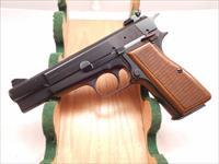 Excellent Condition Belgium Browning Hi Power 9mm with Adj. Rear Sight, Factory Soft Case and, Accessories