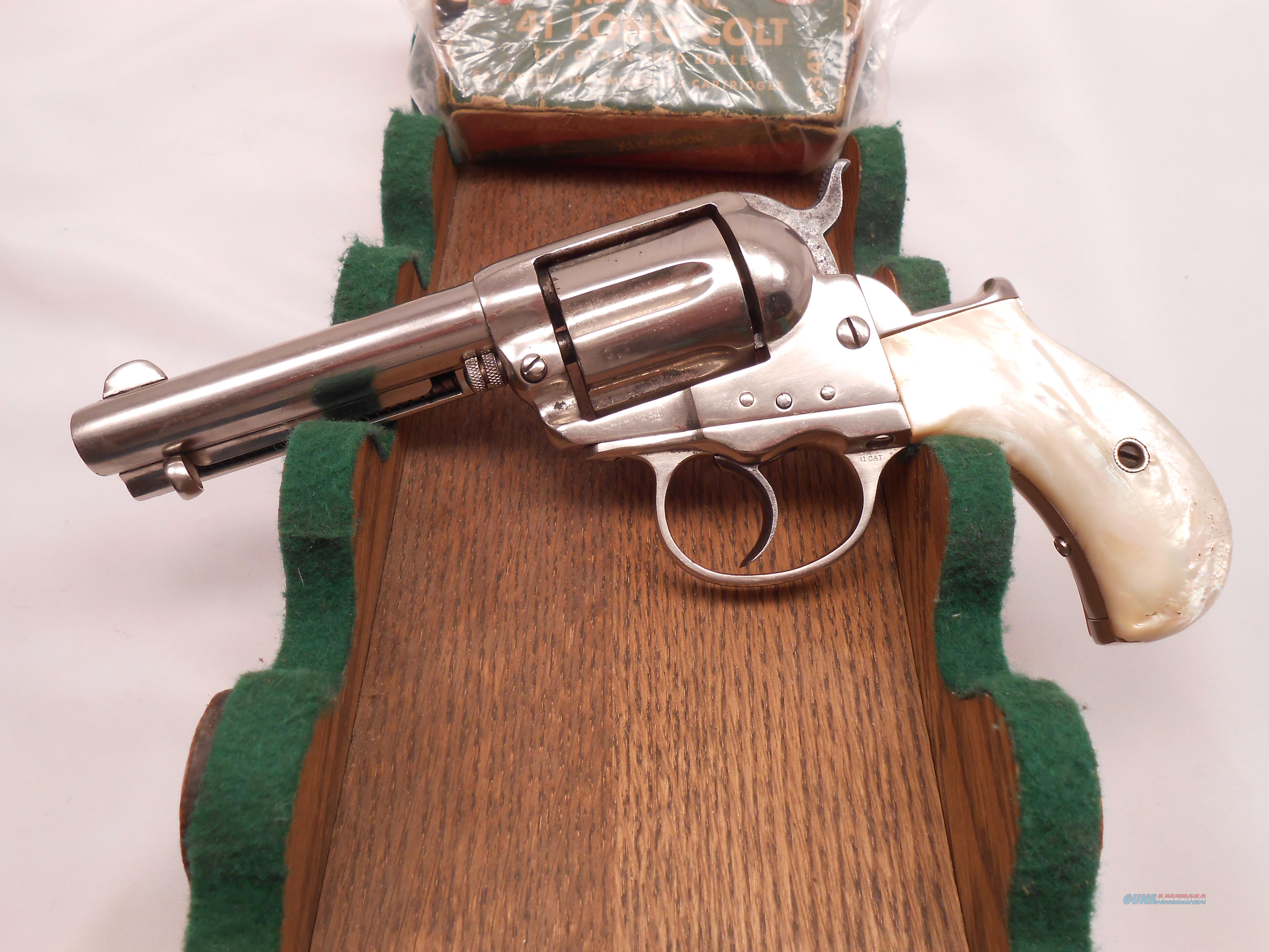Shootable 1877 Colt Thunderer 41 Long Colt with Box of Ammo