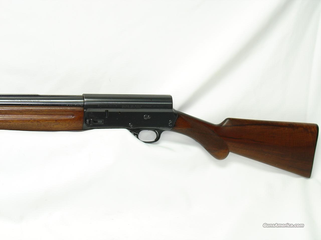 case 6 1 browning manufacturing company B-80 semi-automatic shotgun john m browning (see case 76, gun #6) with manufacturing facilities in portugal that were owned by a belgian company.