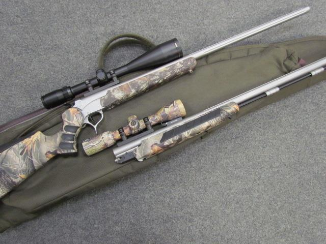 !^* OUTSTANDING *^! THOMPSON CENTER ENCORE STAINLESS COMBO! Flat Shooting   280 REMINGTON! BUSHNELL 3200 series 3-9x50mm! 50 cal muzzle loader barrel