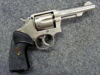 "! CLASSIC & RELIABLE ! SMITH & WESSON MODEL 10 / Victory Model! ""C"" Series, 4 inch, 6 shot 38 spl. nickle finish,Pach grips! Good shooter! REDUCED & O.B.O.!"