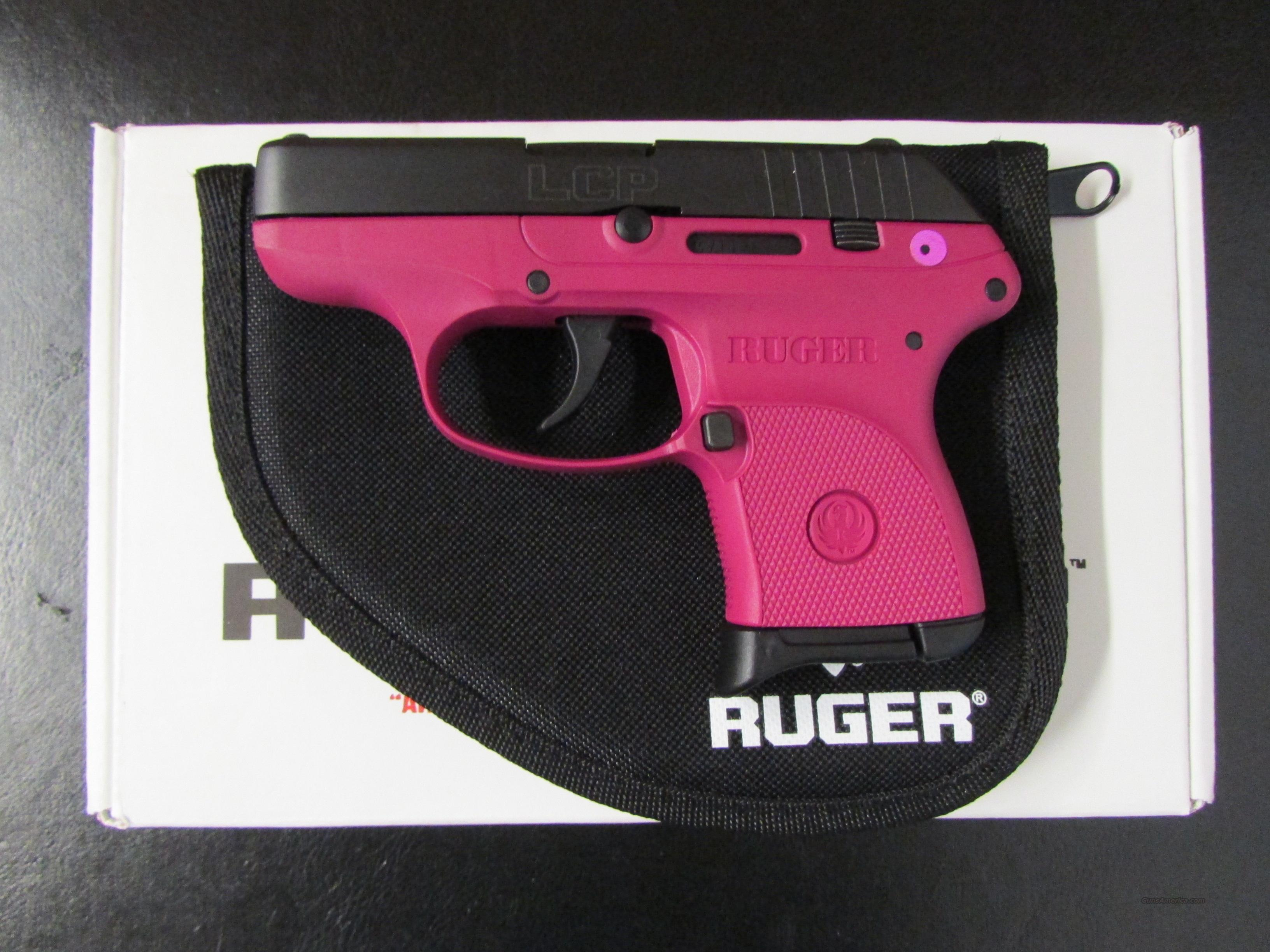 Ruger Lcp Raspberry Frame 380 Acpauto 3705 For Sale