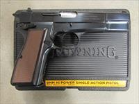 "Browning Hi-Power Standard 9mm 4-5/8"" Blued 13+1 Fixed Sights 051004393"
