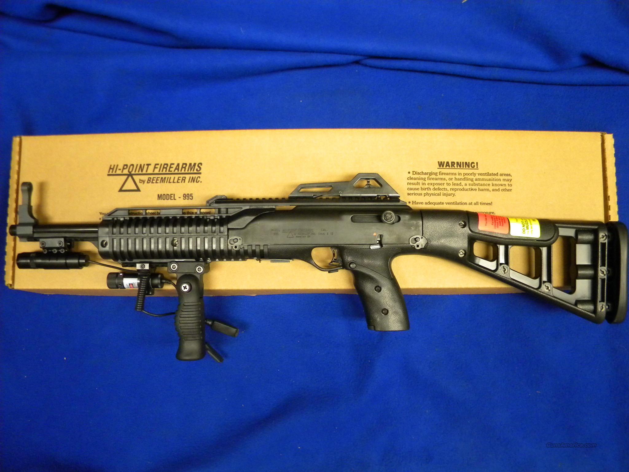 Hi-Point 9mm Carbine w/ Forward grip,flashlight & laser 995FG FL LAZ TS