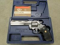 "1991 Colt Python Brushed Stainless 6"" .357 Magnum w/ Box"