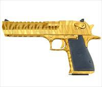 Magnum Research DE .50 AE Titanium Gold w/Tiger Stripes DE50TG-TS