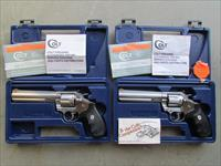 1995 Colt King Cobra Consecutive Serial Numbered Stainless .357 Magnum Revolvers