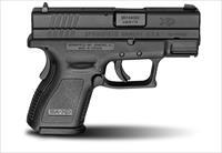 "Springfield XD Sub-Compact 9mm Luger 3"" XD9801"