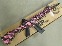 "Smith & Wesson M&P15-22 Pink Platinum 16.5"" Threaded BBL .22 LR 811051"