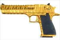 Magnum Research Desert Eagle .44 Mag Gold w/Tiger Stripes DE44TG-TS