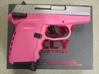 "SCCY CPX-1 DAO 3.1"" Stainless / Pink 9mm CPX1TTPK"